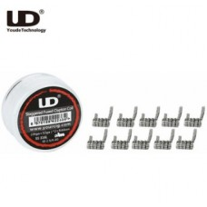 UD Staggered Fused Clapton SS316 10db (26GA+32GA)